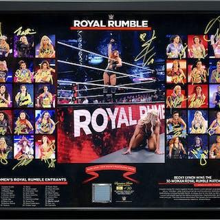 2019 Women's Royal Rumble Entrant Autographed Ring Canvas Plaque (Random