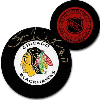 Stan Mikita (deceased) Autographed Chicago Blackhawks Vintage Trench Puck