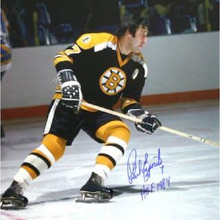 Phil Esposito Autographed Boston Bruins 16X20 Photo