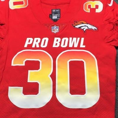 super popular 7c125 ad35d NFL - Broncos Phillip Lindsay Game Issued 2019 Pro Bowl ...