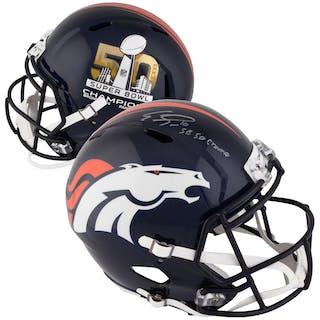 Emmanuel Sanders Denver Broncos Autographed Riddell Super Bowl 50