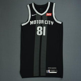 79e82d2aeb3 Jose Calderon - Detroit Pistons - Game-Issued City Edition Jersey