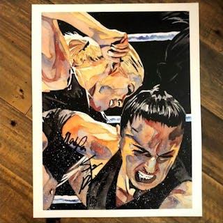 Mandy Rose & Sonya Deville SIGNED 11 x 14 Art Print