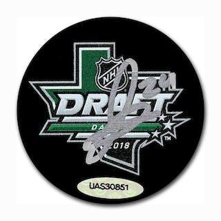 Jacob Bernard-Docker Autographed 2018 NHL Entry Draft Puck