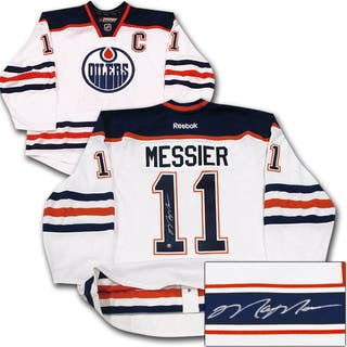 Mark Messier Autographed Edmonton Oilers Authentic Pro Jersey