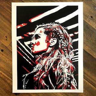 Becky Lynch SIGNED 11 x 14 Rob Schamberger Print