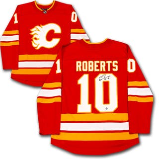 timeless design 44c3f de898 Gary Roberts Autographed Calgary Flames Jersey – Current ...