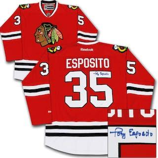 Tony Esposito Autographed Chicago Blackhawks Jersey