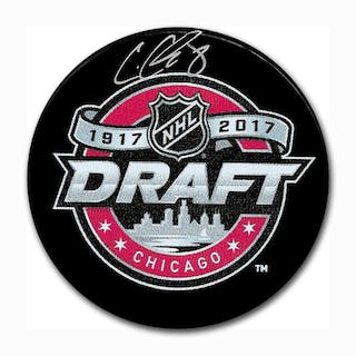 Cody Glass Autographed 2017 NHL Entry Draft Puck