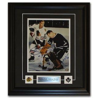 Johnny Bower & Bobby Hull Autographed Framed 8X10 Photo
