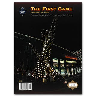Toronto Maple Leafs First Game at Air Canada Centre Program