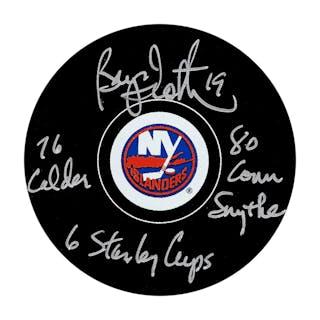 Bryan Trottier Autographed New York Islanders w/Multiple Inscriptions