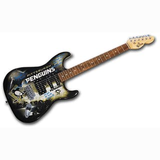 Bryan Trottier Autographed Pittsburgh Penguins Limited-Edition Woodrow Guitar