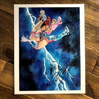 Kairi Sane SIGNED 11 x 14 Rob Schamberger Print