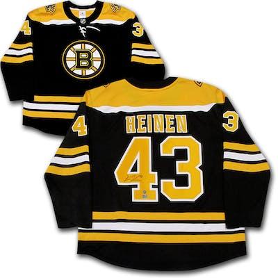 free shipping 318e2 67347 Danton Heinen Autographed Boston Bruins Fanatics Jersey ...