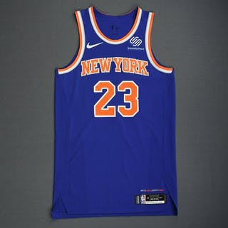 Trey Burke - New York Knicks - 2018-19 Season - London Games - Game-Worn