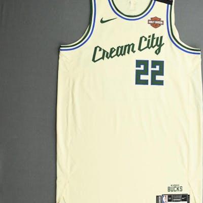 Khris Middleton Milwaukee Bucks Game Worn City Edition Jersey Barnebys