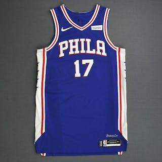 JJ Redick - Philadelphia 76ers - 2019 NBA Playoffs - Game-Worn Blue
