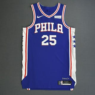 Ben Simmons - Philadelphia 76ers - 2019 NBA Playoffs - Game-Worn 1st