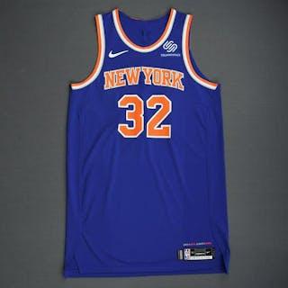 Noah Vonleh- New York Knicks - 2018-19 Season - London Games - Game-Worn