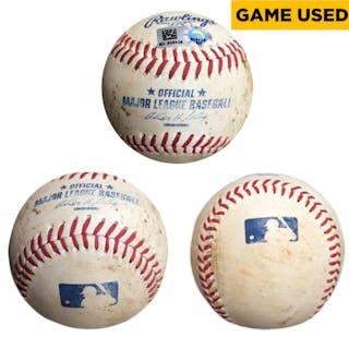 Yu Darvish Texas Rangers Game-Used Pitched Baseball