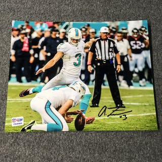 Dolphins - Andrew Franks Signed 8X10 Photo