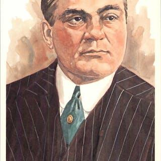 1980-02 Perez-Steele Hall of Fame Postcards #63 Edward Barrow -- HOF