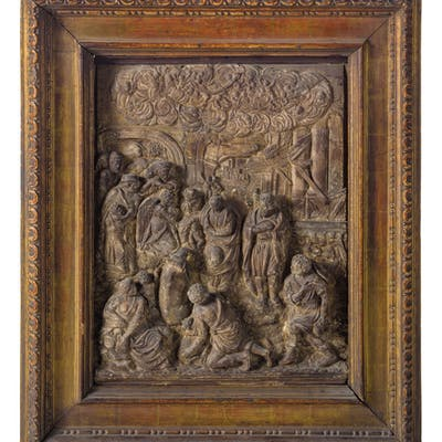 A TERRACOTTA RELIEF, 18TH-19TH CENTURY; WEAR, RESTORATIONS, SOME DAMAGES