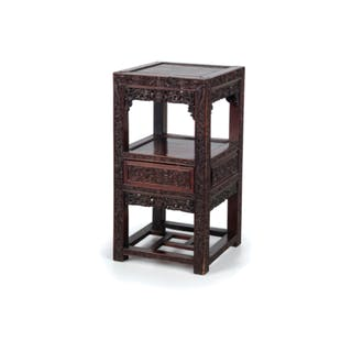 A FINE AND CARVED INCENSE STAND, CHINA, LATE 19TH CENTURY