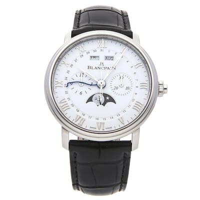 Blancpain Villeret Complete Calendar Chronographe Monopusher 6685-1127-55B