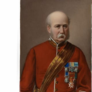 Painted porcelain portrait of Field Marshal Frederick Sleigh Roberts