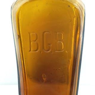 BGB Tooled top amber case bottle
