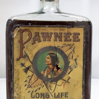 PAWNEE LONG LIFE BITTERS with original label and contents