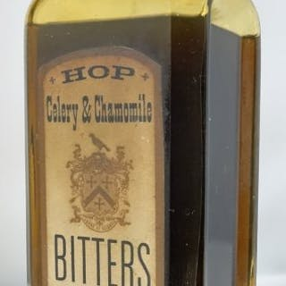 HOP CELERY & CHAMOMILLE BITTERS with label and contents