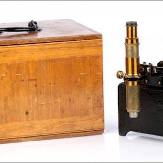 Antiguo Microscopio Vernier, Circa 1900