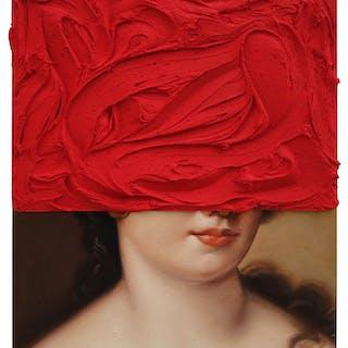 Pintura sobre pintura (Rojo sobre Voet) - Lino Lago