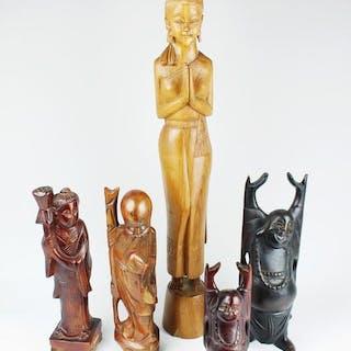 Holzfiguren - Konvolut