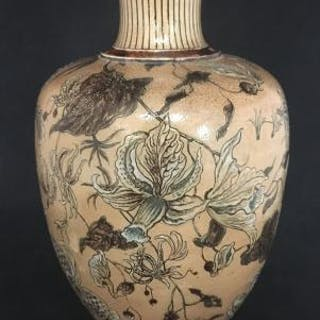 Martin Brothers Floral Vase