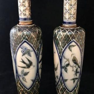 Pair of Martin Brothers Vases