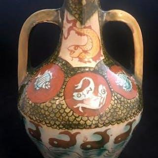 Della Robbia Two Handled Vase