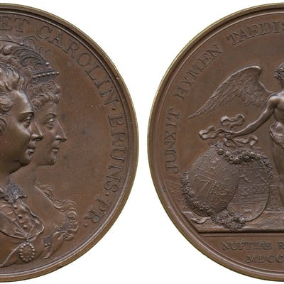 George III, Marriage of the Prince of Wales, Medal, 1795