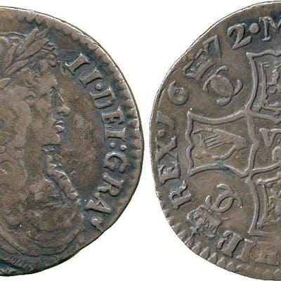 Scotland, Charles II, Half Merk, 1672