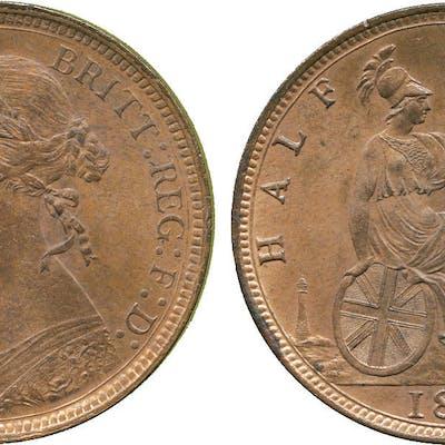 Victoria, Bronze Halfpenny, 1890