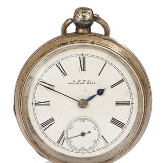 Waltham Watch Company silver open face pocket watch