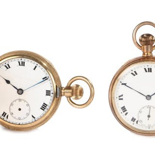 Illinois Watch Case Co gold plated hunter pocket watch
