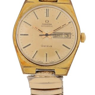 Omega Geneve Automatic gentleman's gold plated wristwatch