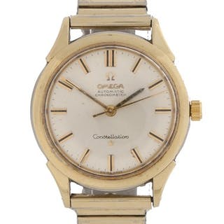 Omega Constellation gentleman's gold plated wristwatch