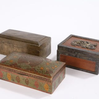 Middle Eastern cloisonne box