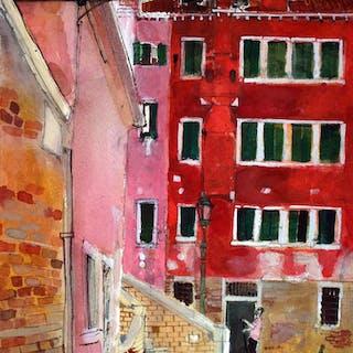Gondolier, San Marco, Venice by Peter Quinn