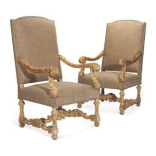 A PAIR OF LOUIS XIV STYLE GILTWOOD FAUTEUILS TH CENTURY Current - Fauteuil louis xiv
